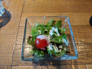 ニックストック広島駅前店のランチのサラダ